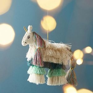 Anthropologie Large Unicorn Christmas Ornament